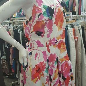 Ralph Lauren Women's Floral Print Flare Dress New